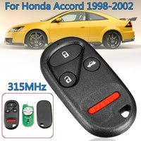 2 PCS  315MHz  Remote Key Fob Case Shell with Battery