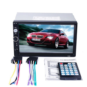 7010B 7 inch 2 Din HD Touch Screen Bluetooth Video MP3 MP5 Player GPS Navigation FM Radio Support Rear-View Camera