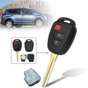 3 Buttons With Chip And Battery 314Mhz Car Remote Key Fob Case Shell For Toyota Prius C V 2014 2015 2016 RAV4 HYQ12BDM, HYQ12BEL