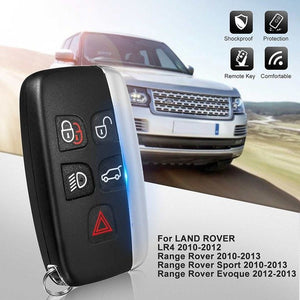 5 Button Remote Key Shell Case for LAND ROVER LR4 Range Rover Sport Evoque Freelander 2 2006-2015  with CR2032 Battery