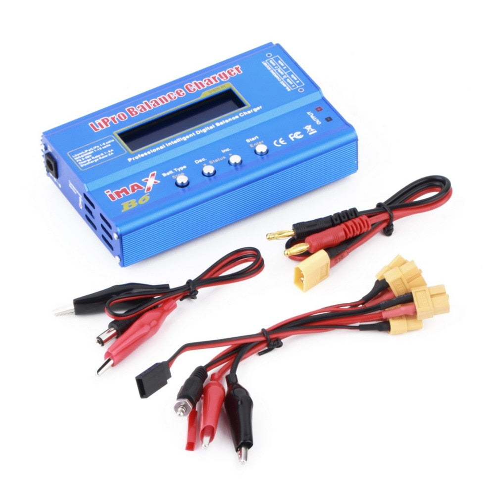 New Professional 80W DC 12-16V Multifunctional 1-6 Cells XT60 LiPo 1-15 NiMH Battery Original Digital Balance Charger Discharger