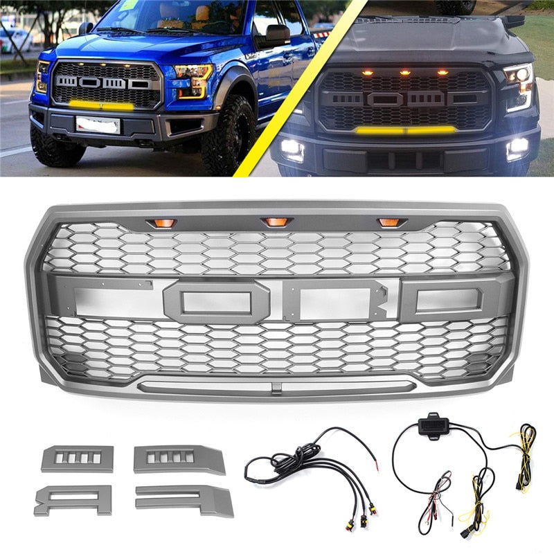 1Set Car Front Racing Grille For Ford F150 Raptor 2015-2018