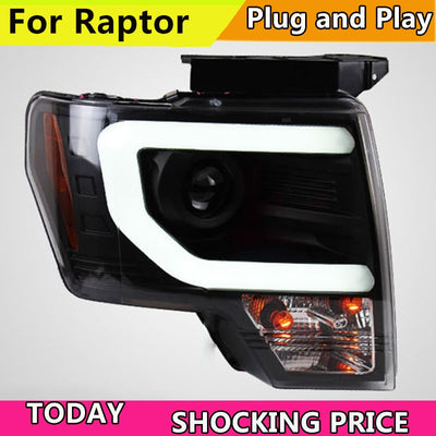 Car styling LED HID Rio LED headlights Head Lamp case for Ford Raptor F150 2008-2014 Bi-Xenon Lens low beam