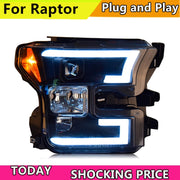 Car Styling For Ford raptor F150 2015-2018 headlights For raptor head lamp led DRL front Bi-Xenon Lens Double Beam HID KIT