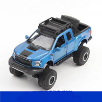 For Ford Raptor F150 Model Car Toy Offroad Pickup Alloy Simulation Model Car Big Wheeler Off-road Pick-up Model Toy for Children
