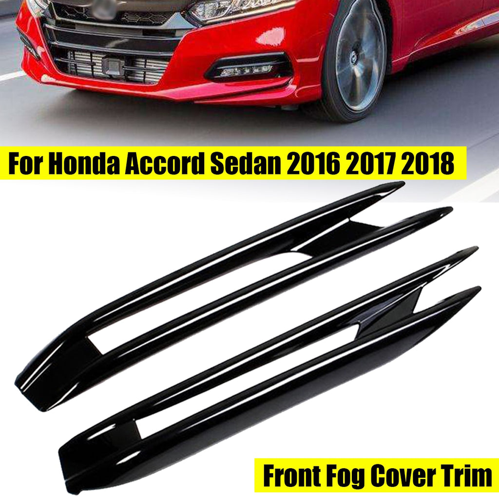 ABS Chrome Front Fog Light Lamp Cover Trim 2pcs For Honda Accord 2018 2019