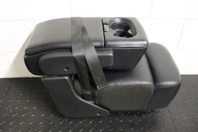04-08 Ford F 150 BLACK LEATHER console jump seat F150 lariat 2007 4 CUP HOLDERS