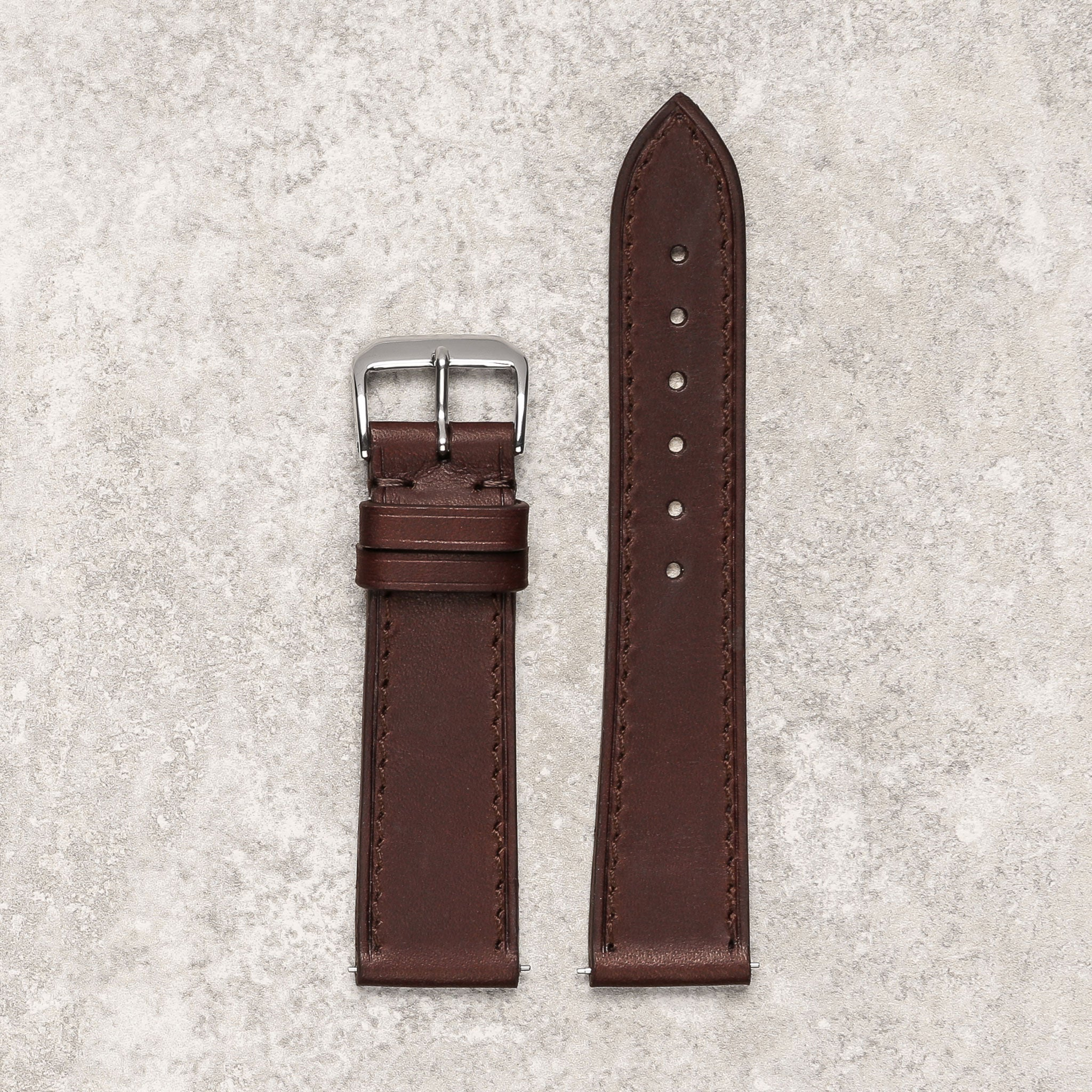 Thin impeccable dark brown watch strap watch band Montreal