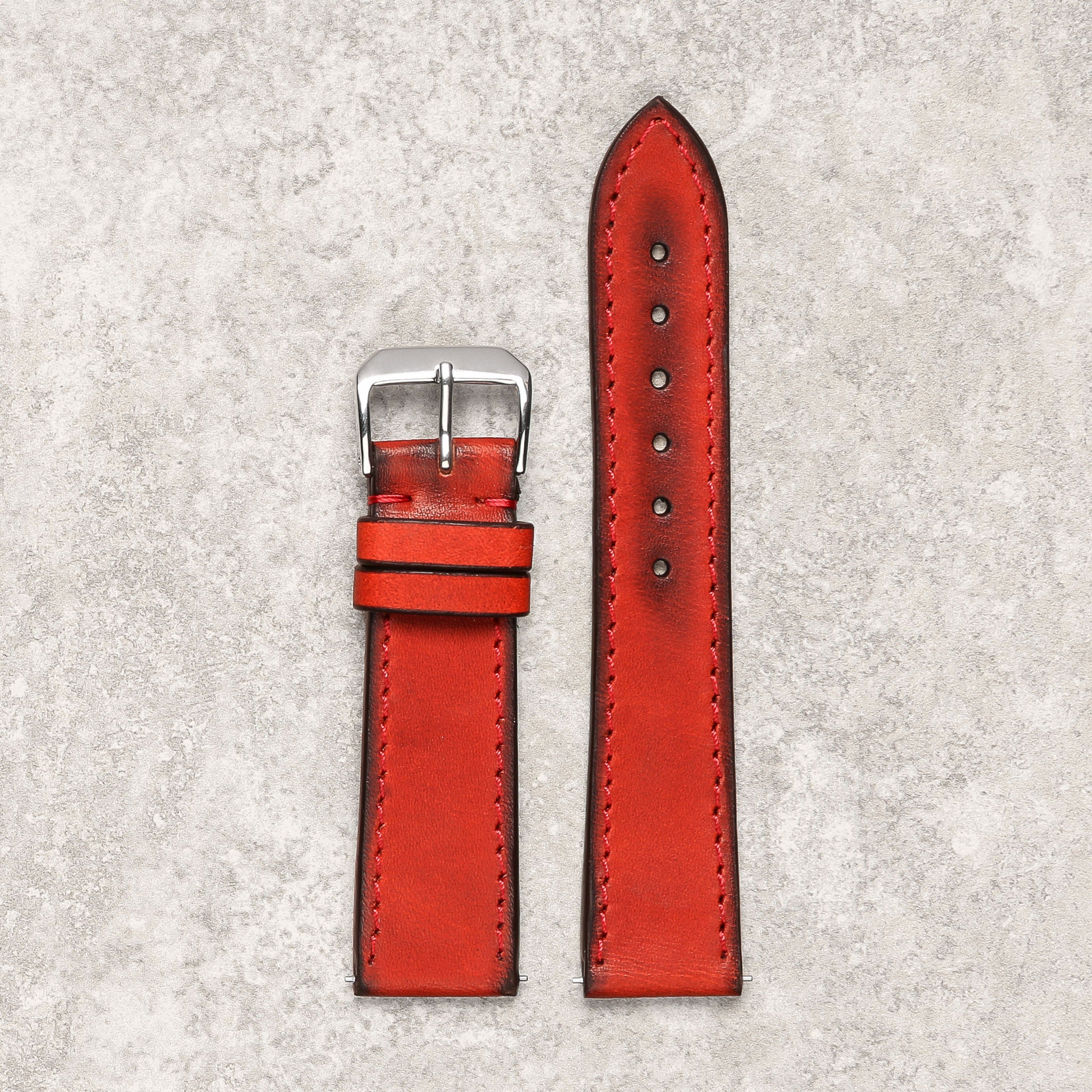 rouge vintage red watch strap watch band Montreal DIametris