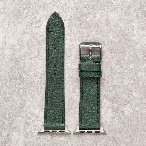 Diametris Apple Watch textured green leather replacement strap - Case size 38mm/40mm