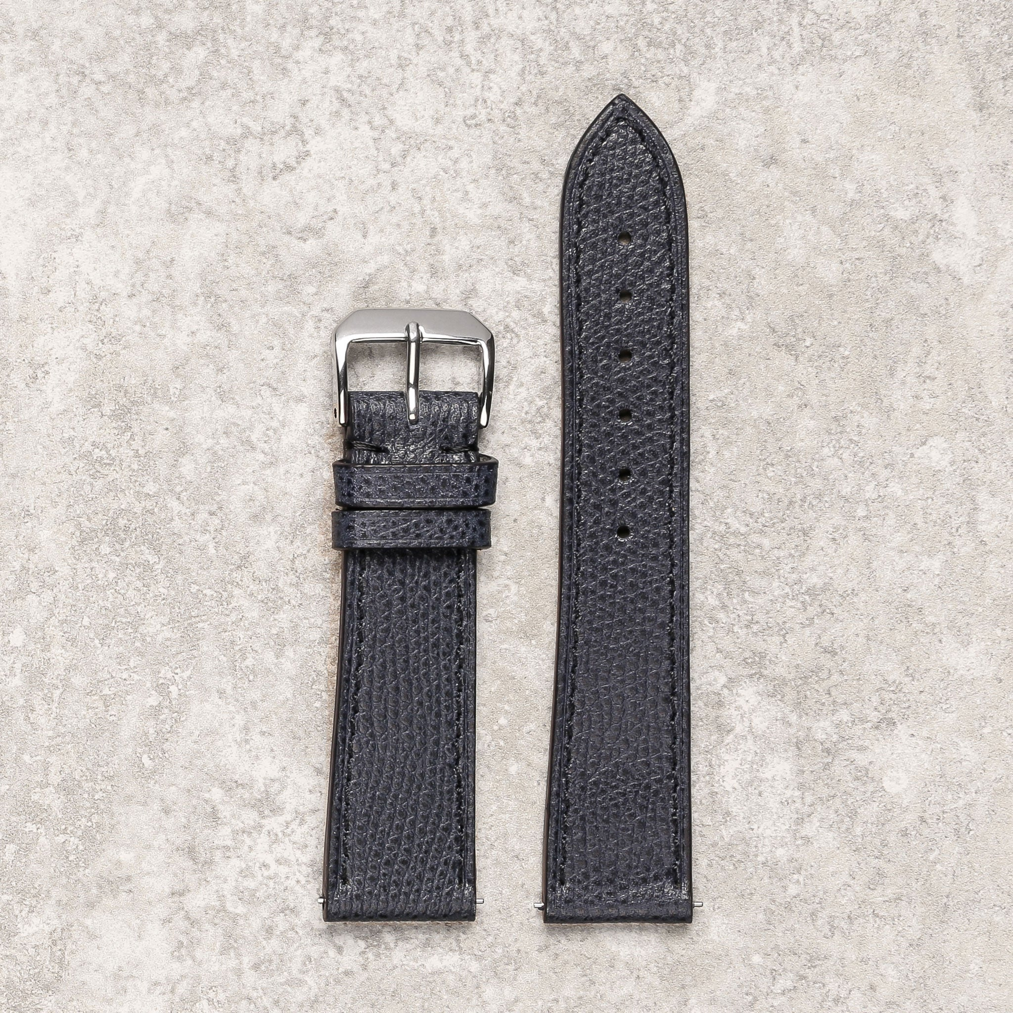 Thin grained navy watch strap watch band Montreal