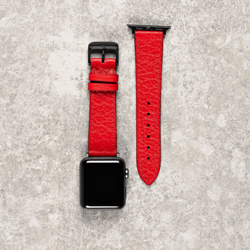 Diametris Apple Watch Coral leather replacement strap - Case size 38mm/40mm