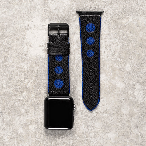 o	Diametris Apple Watch Racing leather replacement strap - Case size 42mm/44mm