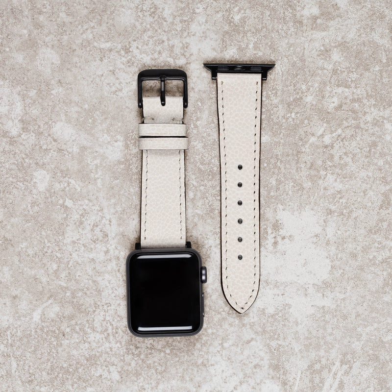 Diametris Apple Watch Dust leather replacement strap - Case size 38mm/40mm black buckle