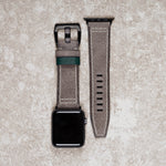 Diametris Apple Watch Major Taupe distressed leather replacement strap - Case size 42mm/44mm black buckle