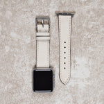Diametris Apple Watch Dust leather replacement strap - Case size 38mm/40mm silver buckle