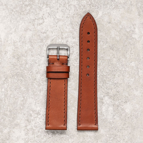 Thin brown watch strap watch band Montreal Diametris
