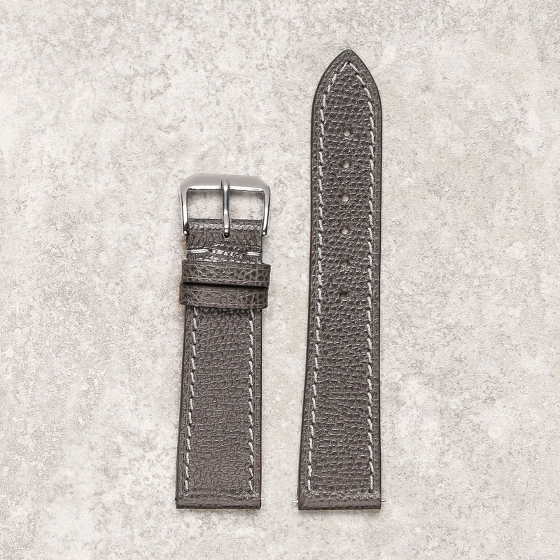 Impeccable textured grey watch strap