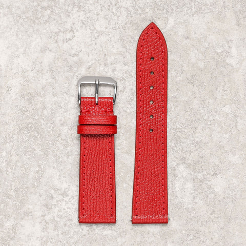 Thin grained red watch strap watch band Montreal