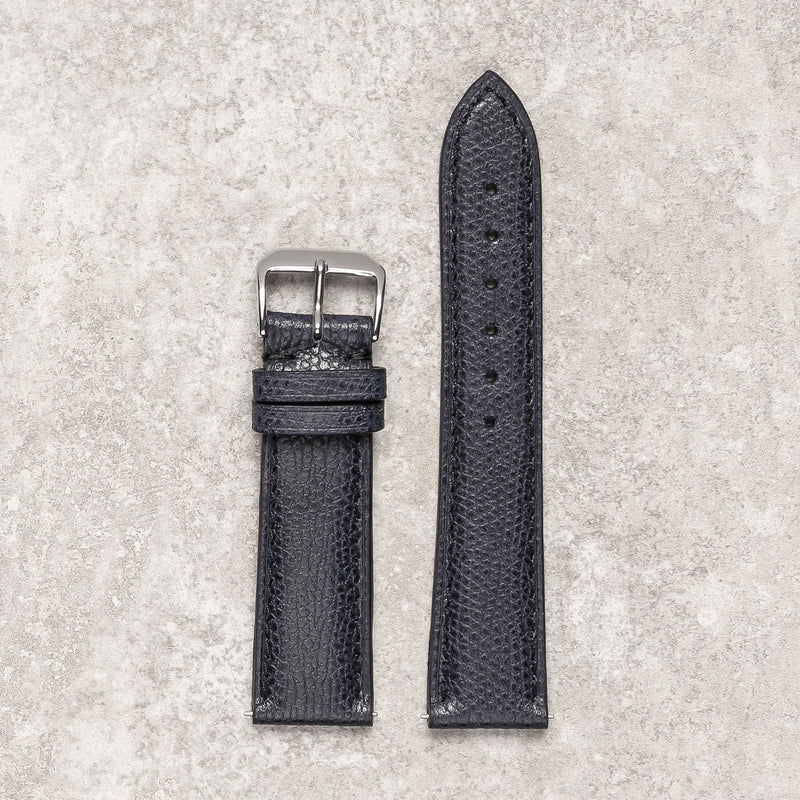 Remarquable grained navy watch strap montreal bracelet montre