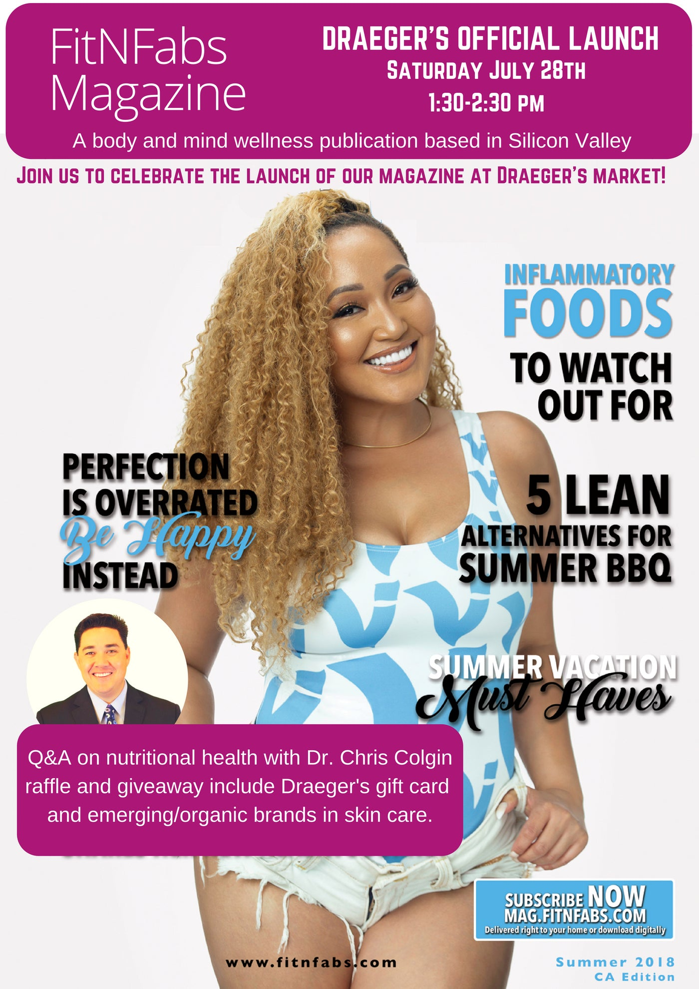 FitNFabs Magazine & Draeger's Official Launch