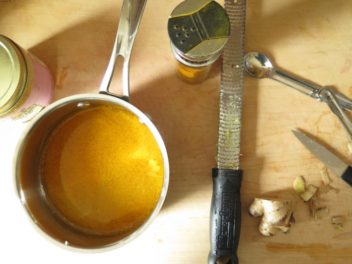 Turmeric, Ginger, Honey Tea