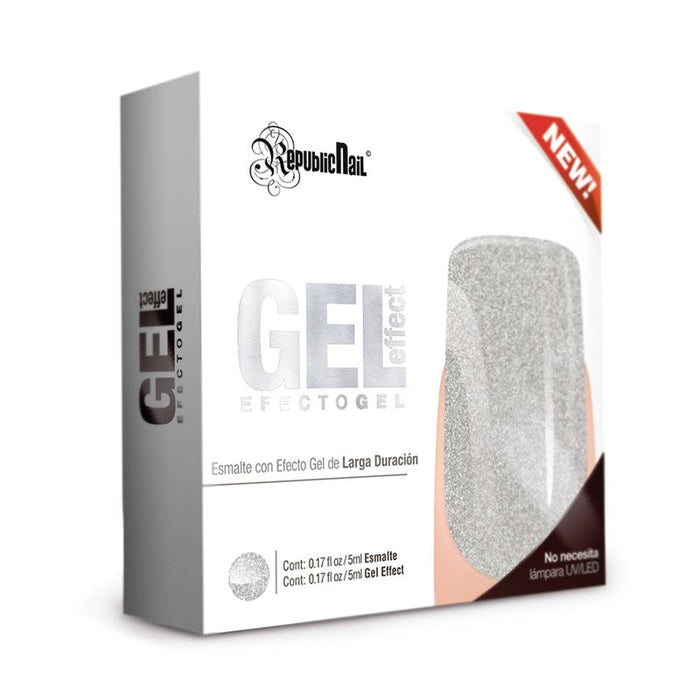 "Esmalte Efecto Gel. Gel Effect ""Silver Rock"" by Republic Cosmetics"