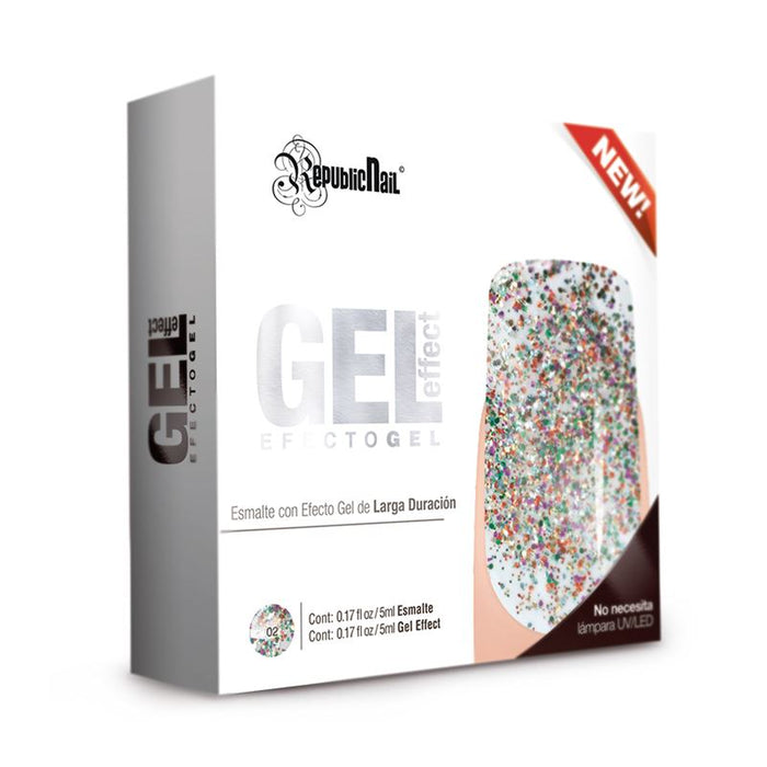 "Gel Effect ""Carnival"" Esmalte Efecto Gel republiccosmetics"