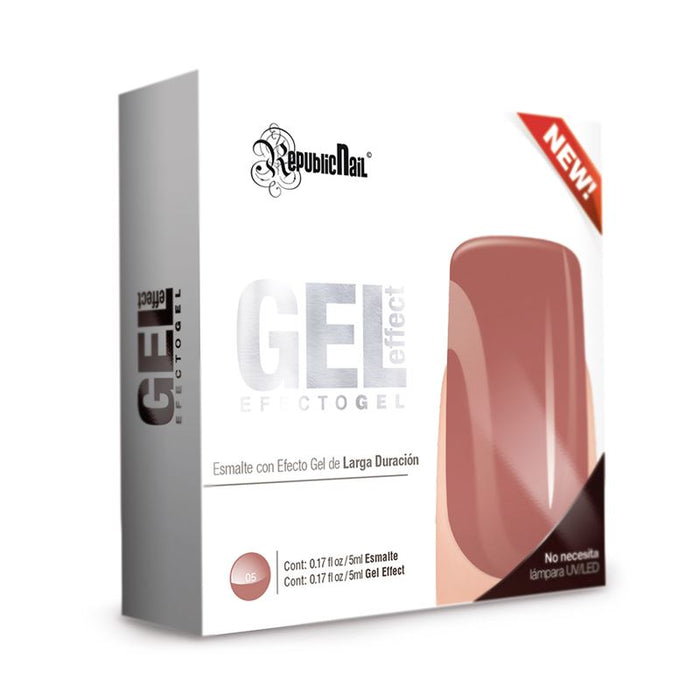 "Esmalte Efecto Gel. Gel Effect ""Chocolate"" by Republic Cosmetics"