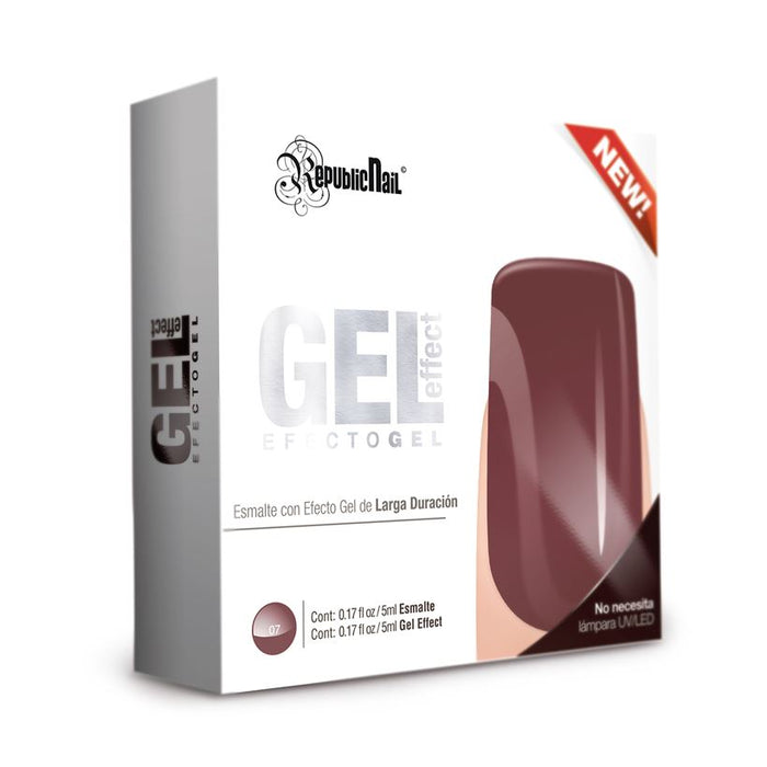 "Gel Effect ""Wine Toast"" Esmalte Efecto Gel republiccosmetics"
