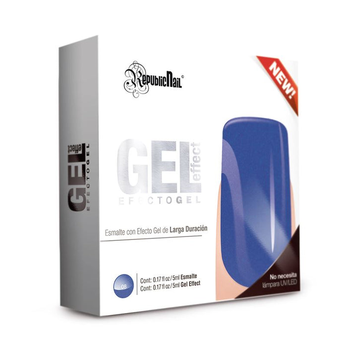 "Esmalte Efecto Gel. Gel Effect ""Blue Rock"" by Republic Cosmetics"