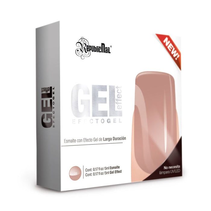 "Esmalte Efecto Gel. Gel Effect ""Rosewood"" by Republic Cosmetics"