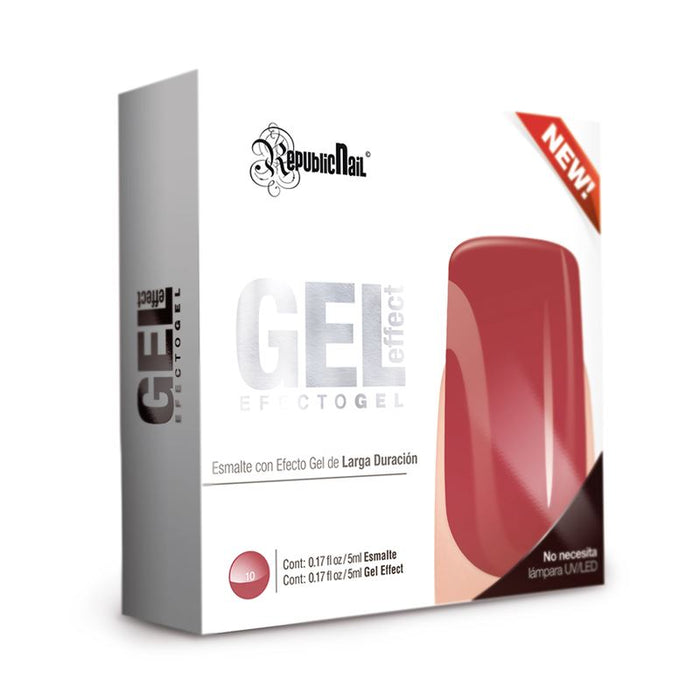"Esmalte Efecto Gel. Gel Effect ""Real Red"" by Republic Cosmetics"