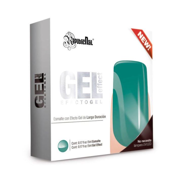 "Esmalte Efecto Gel. Gel Effect ""Aqua Reef"" by Republic Cosmetics"