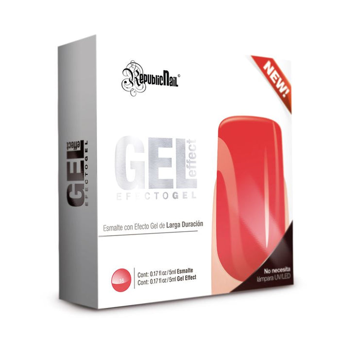 "Esmalte Efecto Gel. Gel Effect ""Coral"" by Republic Cosmetics"
