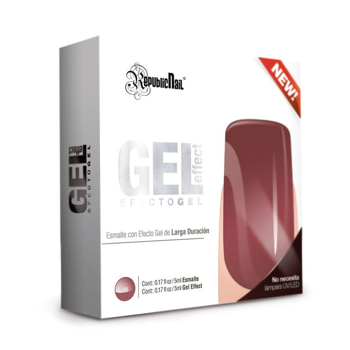 "Esmalte Efecto Gel. Gel Effect ""Crimson Red"" by republiccosmetics"