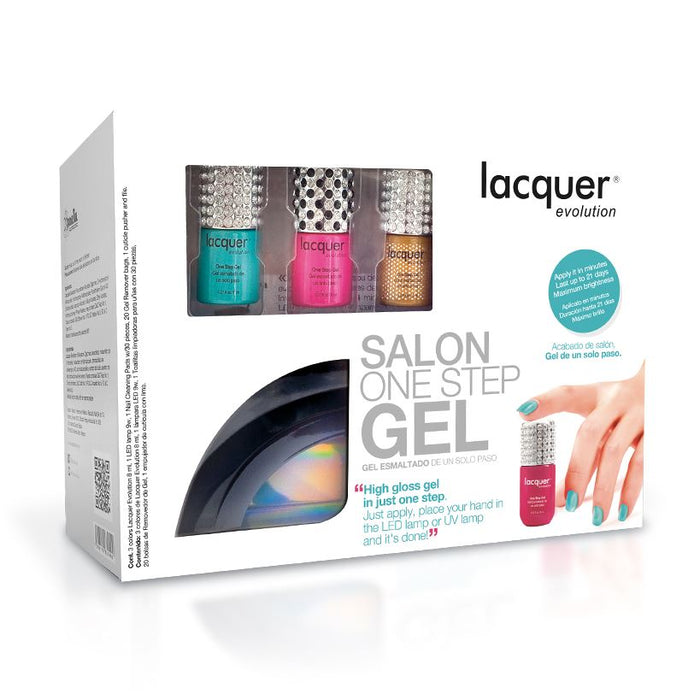 set de gel de un solo paso. Starter Kit Lacquer Evolution by Republic Cosmetics