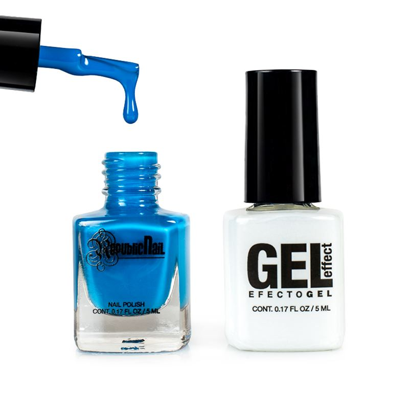 "Esmalte Efecto Gel. Gel Effect ""Classic Blue"" by Republic Cosmetics"