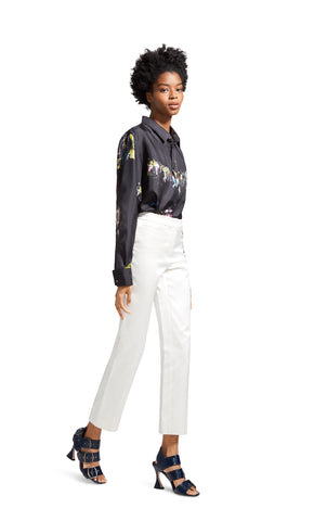 Liv Satin Slim Pant