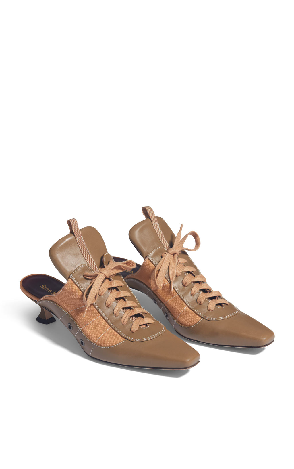 Alice Calf Canvas Lace Up Mule 40MM