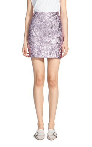 Desiree Laminated Crinkle Mini Skirt