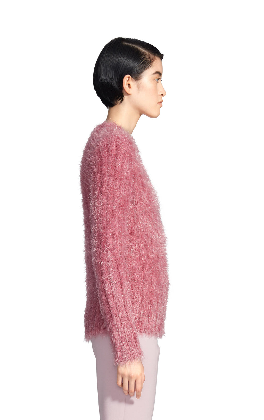 Margo Lurex Fur Crewneck Sweater