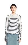 Harrie Linen Stripe Turtleneck Sweater