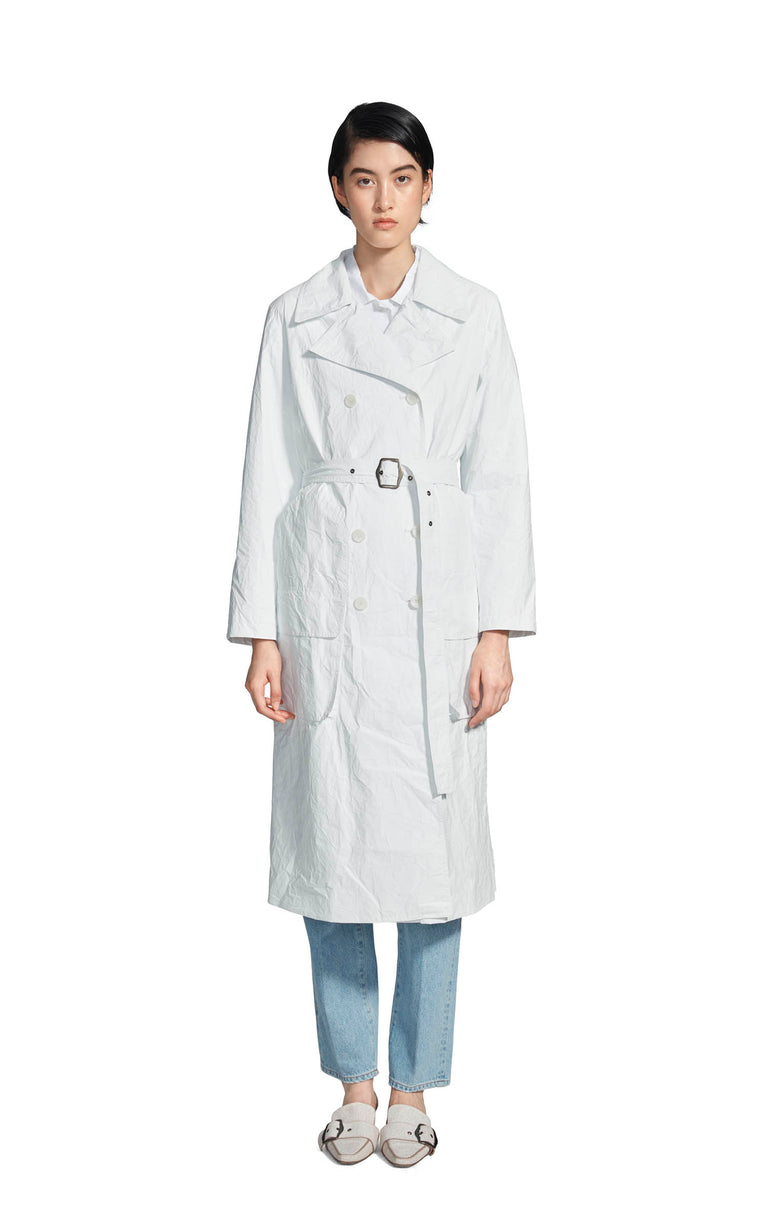 Nisa Matte Coated Trench Coat