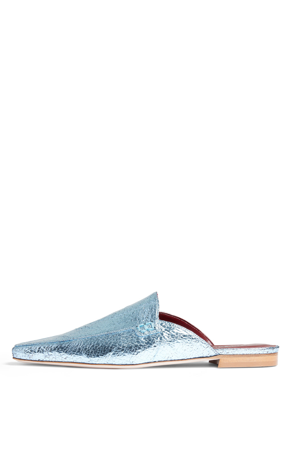 Lia Metallic Crinkle Pointed Mule