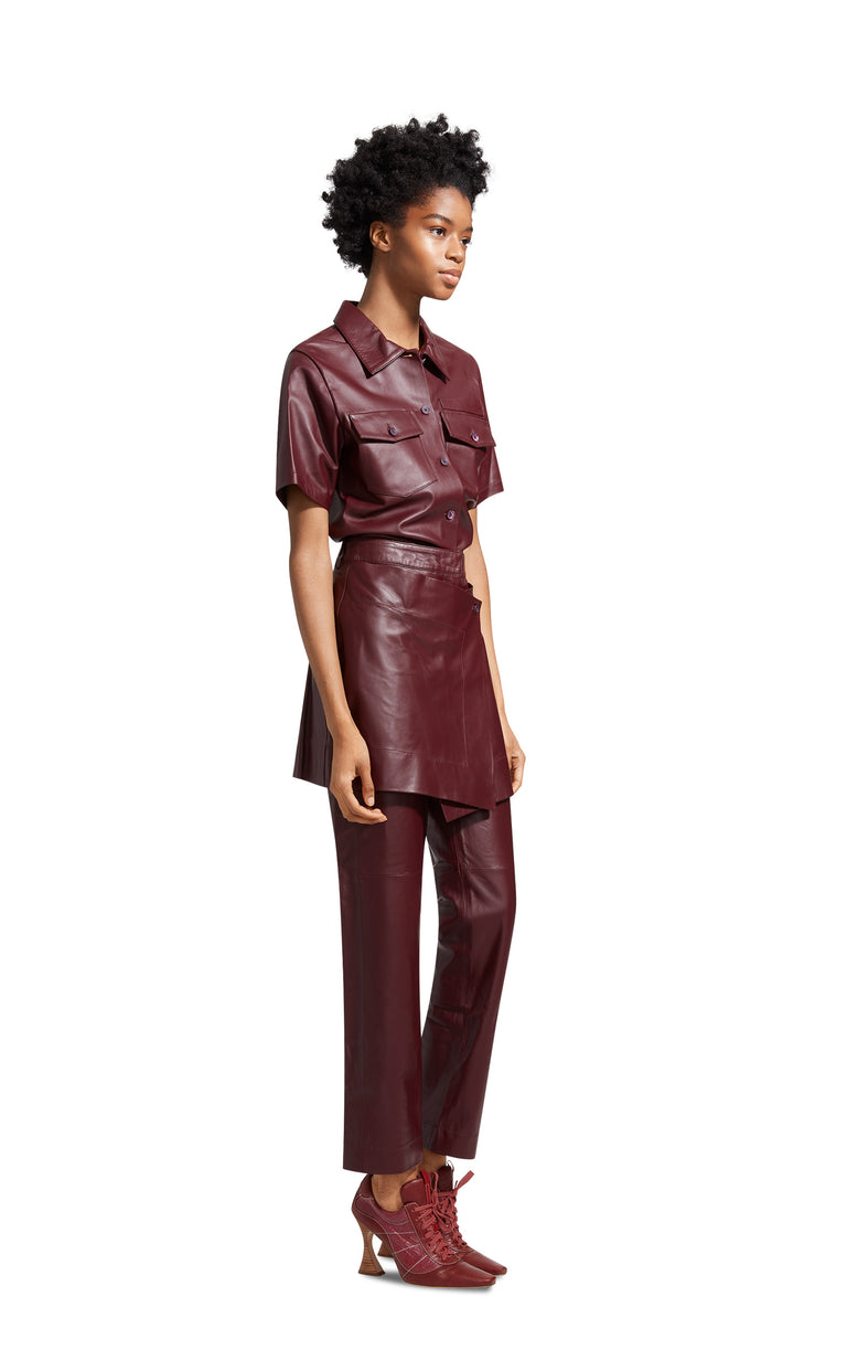 Judy Leather Apron Pant