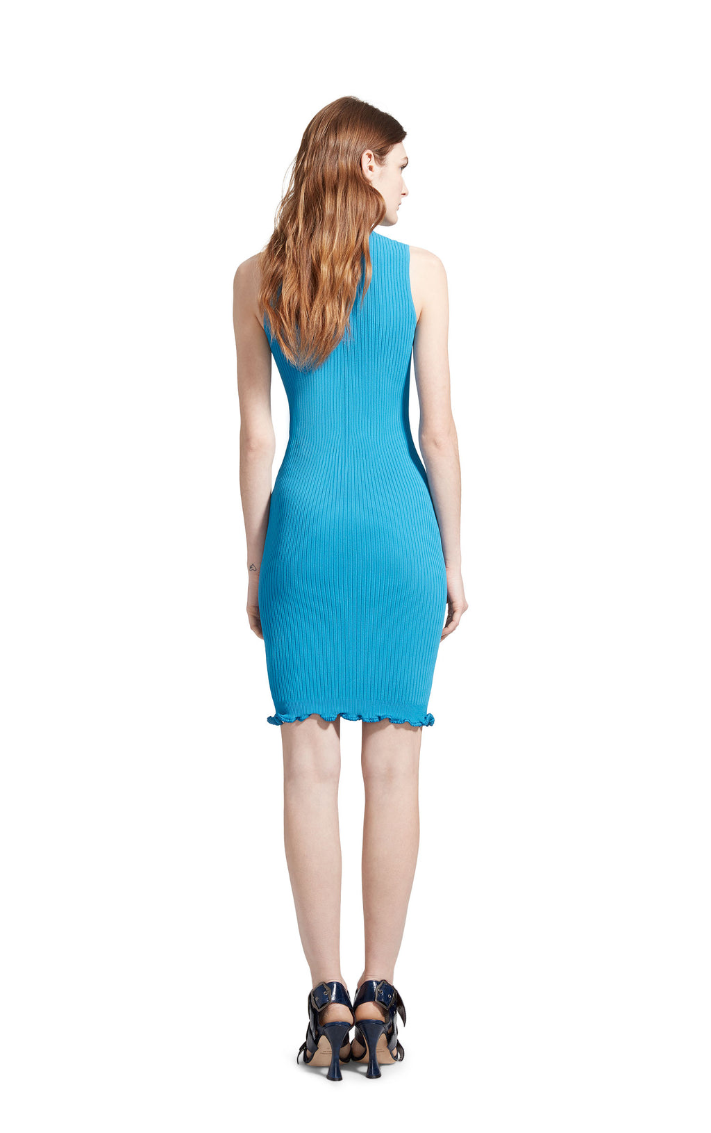 Rei Fine Crepe Sleeveless Mockneck Sweater Dress