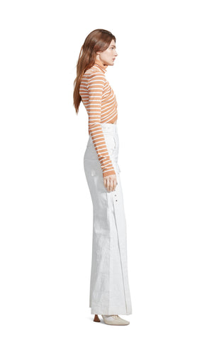 Jenn Fine Crepe Wrap Crop Turtleneck Sweater