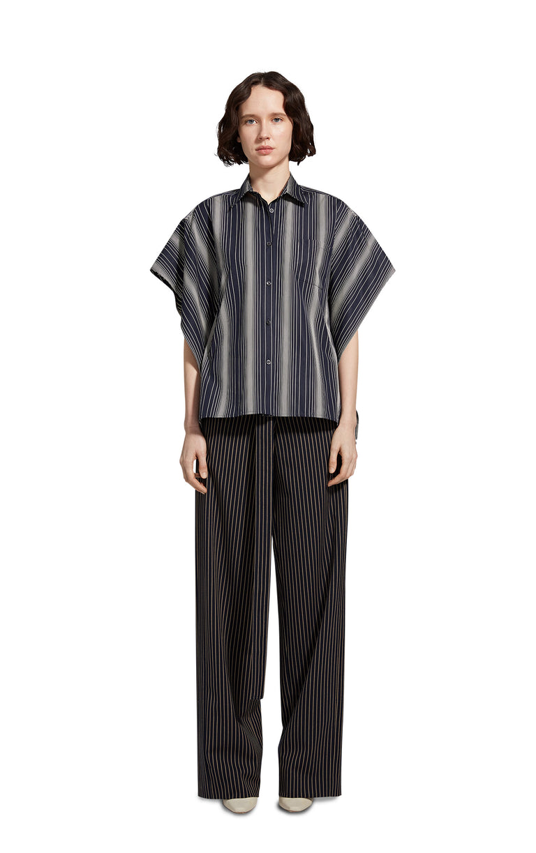 Sabine Striped Poplin Loose Shirt