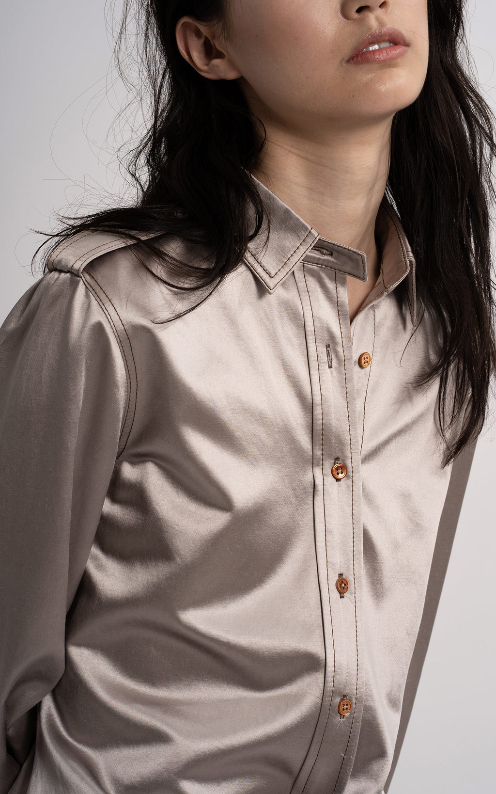Kelsi Cinzed Cotton Shirt